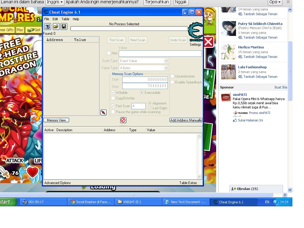 buka cheat engine open cheat engine